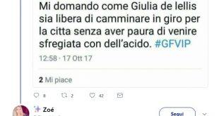 Giulia De Lellis è sotto minaccia