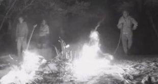 Incendio Inaspettato all'Isola dei Famosi - Prende Fuoco la Capanna Costruita dai Naufraghi.